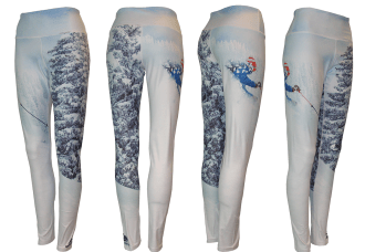 Skiing Clothes Leggings fashion on the downhill moguls, running clothes, or on the hiking trail with a backpack, a fishing clothing brand.