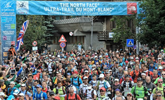 CCCのスタート。Photo courtesy of © The North Face® Ultra-Trail du Mont-Blanc® - Michel Cottin
