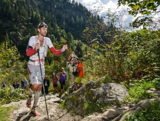 終盤も安定した走りのフランソワ。Photo courtesy of © The North Face® Ultra-Trail du Mont-Blanc® - Pascal Tournaire