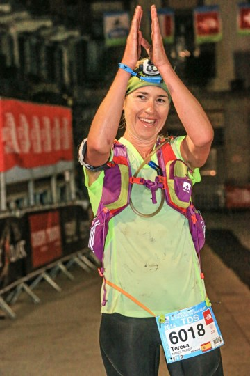 TDSで女子優勝のTeresa Nimes Perez (スペイン)。Photo courtesy of © The North Face® Ultra-Trail du Mont-Blanc® - Franck Oddoux