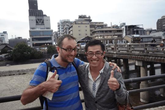 京都で再開した平林さんとEmreさん。