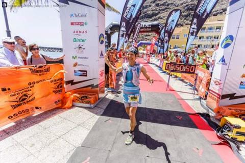 スカイランニングの開幕戦として世界の有力選手が集まる5月のTransvulcania / トランスバルカニアで8位となった丹羽薫 / Kaori Niwa。