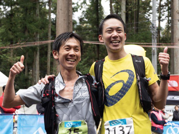 優勝した城武雅 Masashi Shirotake(右)、2位の横内佑太朗 Yutaro Yokouchi。