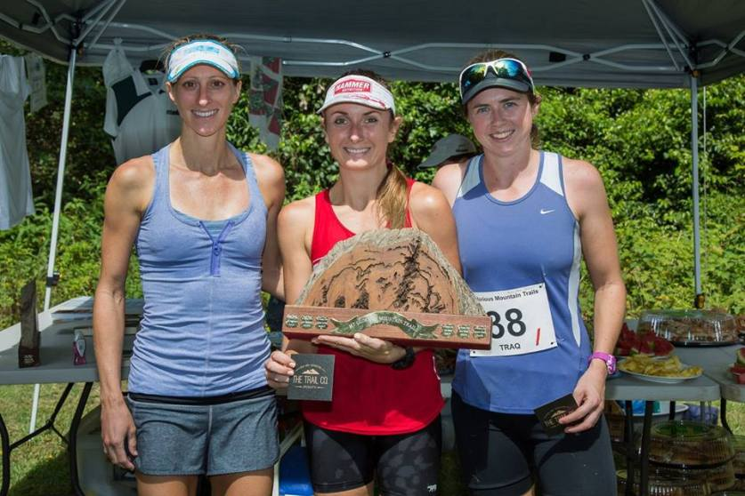 The Mount Glorious Podium  Marathon Women's 2nd Emily, 1st Shona and 3rd Kelly-Anne
