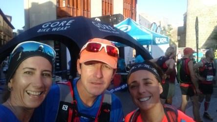 belén , Oscar y yo este sábado ante la challenge marathon y media