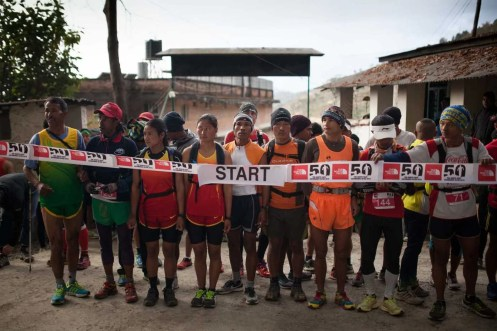 the north face kathmandu ultra trail running nepal-start