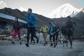 Trail race start Bimtang