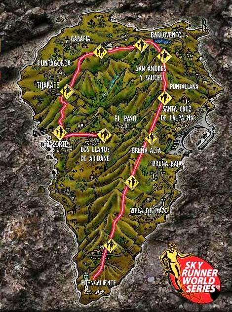 Transvulcania ultramarathon race course