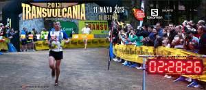 Transvulcania 2013 Ultramarathon. Dakota Jones in the lead at 2012 edition. Photo: Organization.