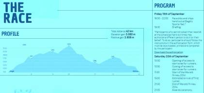 Trail running Spain Marato Pirineu 2014 profile  and program
