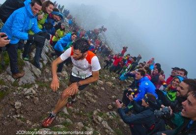 Kilian Jornet at Zegama Aizkorri alpine marathon 2014.