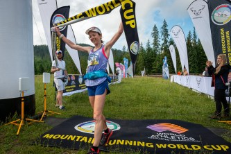 Marcin Kubica & Charlotte Morgan take victory at the WMRA Tatra Run Race Photos: Marco Gulberti
