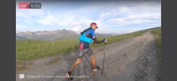 Francesco Cucco leading the Trail 100 Andorra, 125 KM. Photo: Traill 100 Andorra-Pyrenees