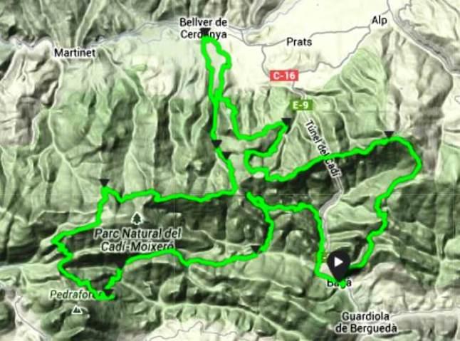 Mapa Ultra cavalls del vent 2013 por Mayayo