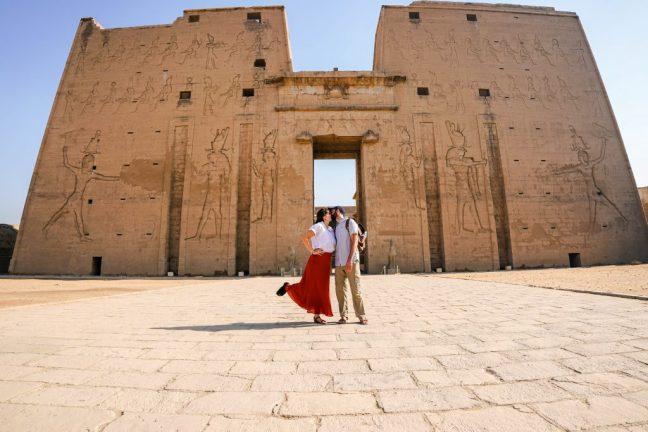 Exploring the temple of Edfu