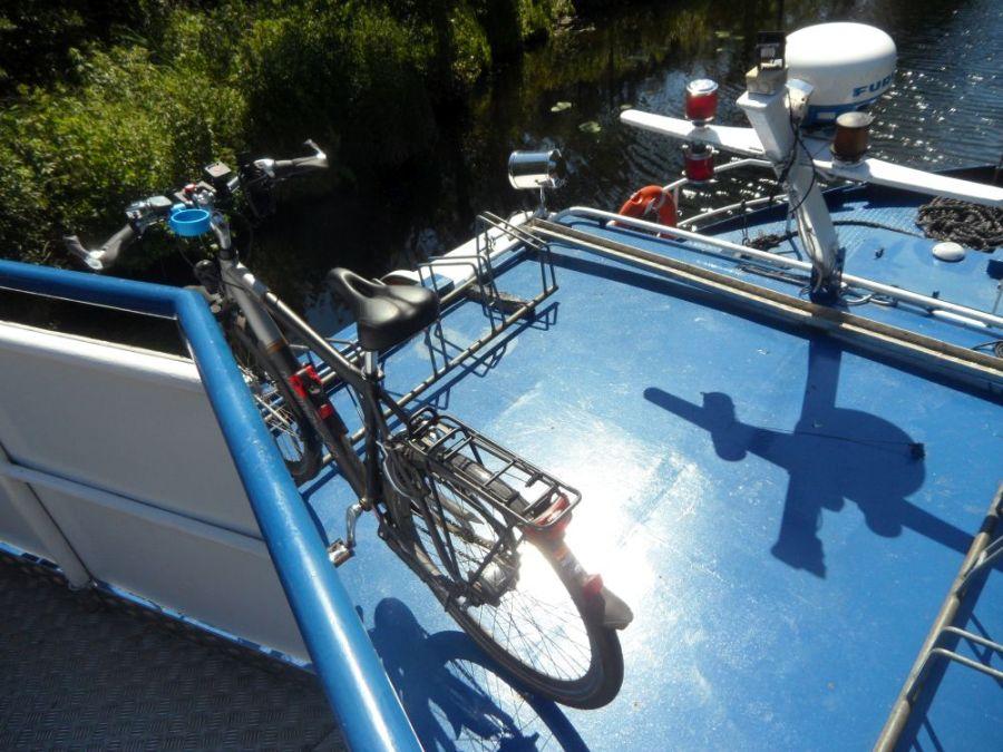 Fahrradtransport auf Onkel Albert