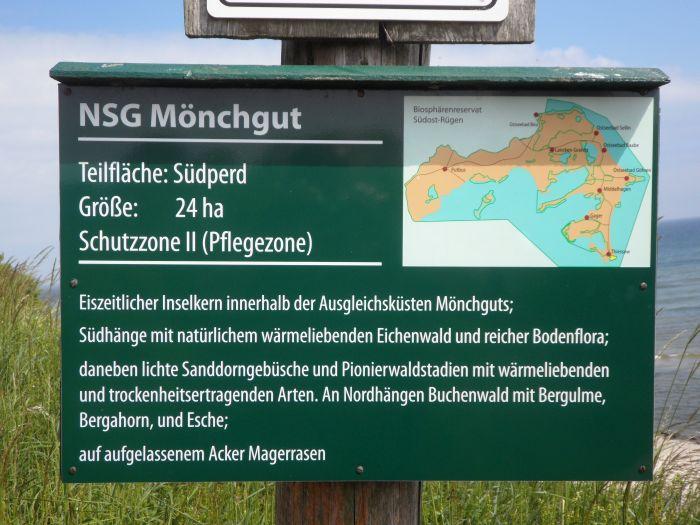 Hinweisschild NSG Mönchgut