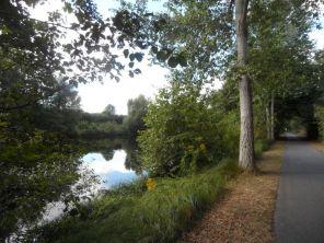 Havel-Glien-Radweg am Havel-Kanal