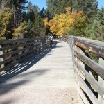 bike trail bridge on Mickelson Trail