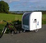 photo of bike camper trailer