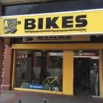 Bike rental shop in Swansea, Wales