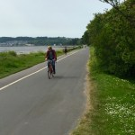 bicycle trail on island