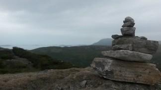 Summit cairn on Ullapool Hill.