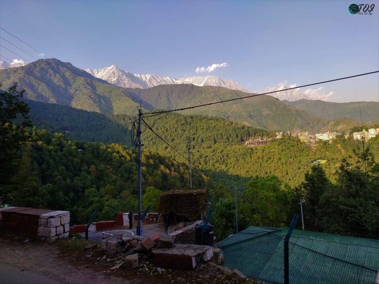 First Views Of Dhauladhar Range in McleodGanj