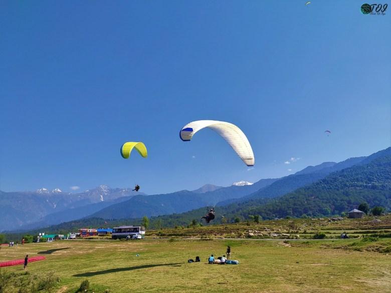 Paragliding Landing Site at Bir Himachal