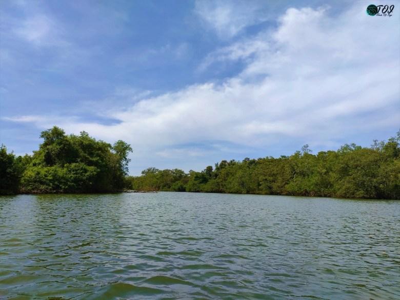 Calmness Of Kali River During Kayaking