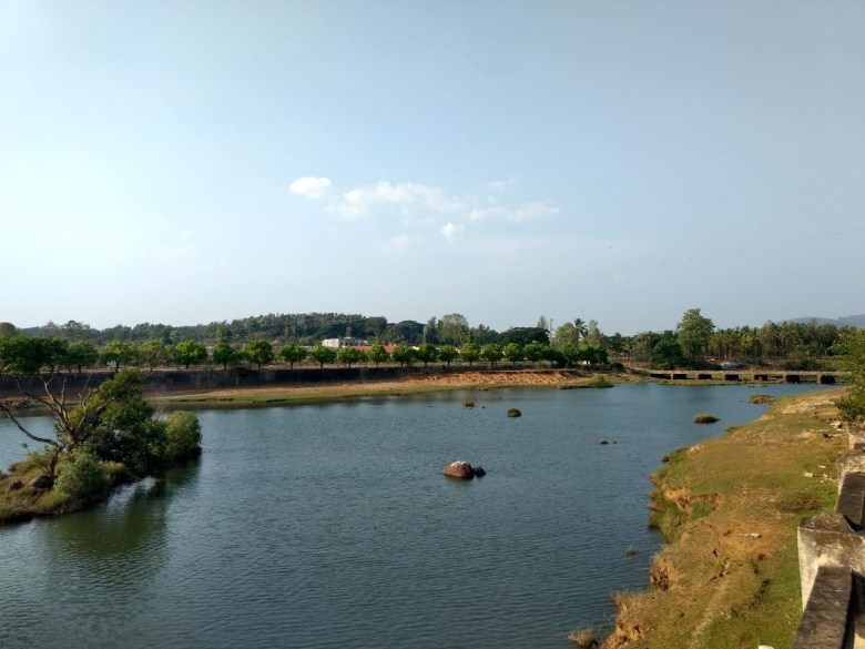 Donwstream Area Of Harangi Reservoir In Coorg