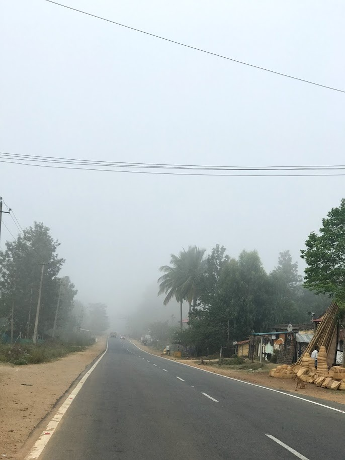Foggy Road To Madikeri From Kushalnagar Coorg