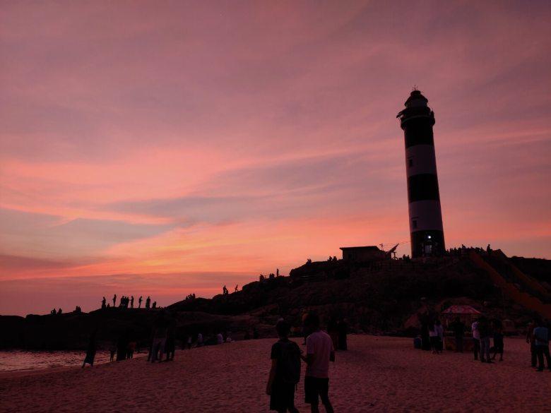 Pink Sky Sunset At Kapu Beach Lighthouse