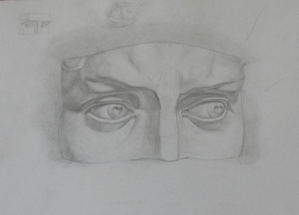David's eyes cast study