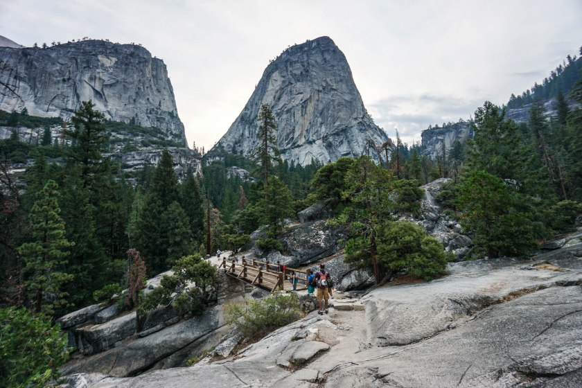 Yosemite Half Dome Hike Nevada Fall
