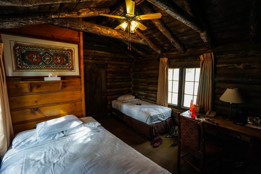 A nice cabin room at the Lodge