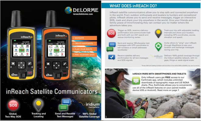 DeLorme inReach SE 2-Way Satellite Communicator