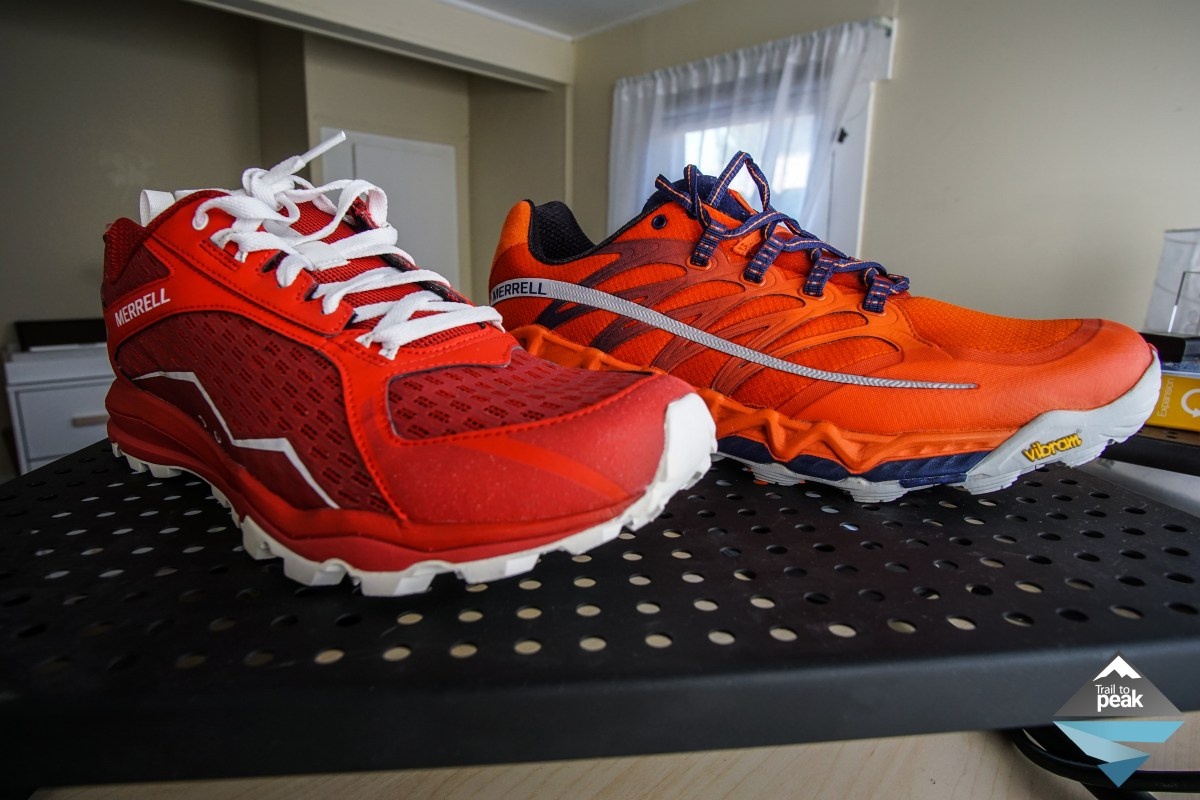 Gear Review: Merrell All Out Crush And All Out Peak - Trail to Peak