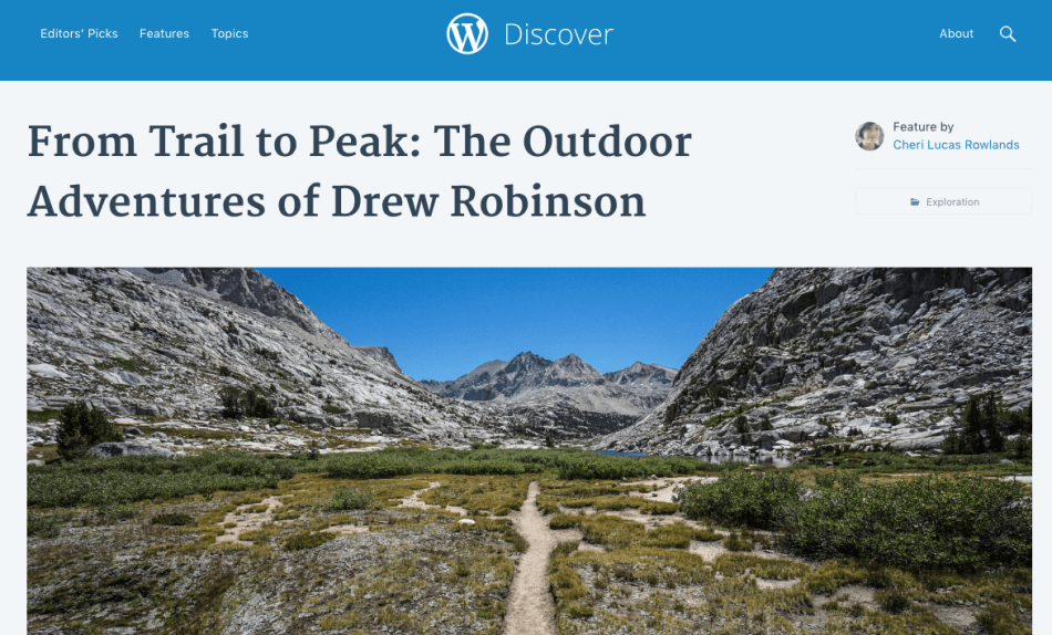 Trail to Peak WordPress Discover