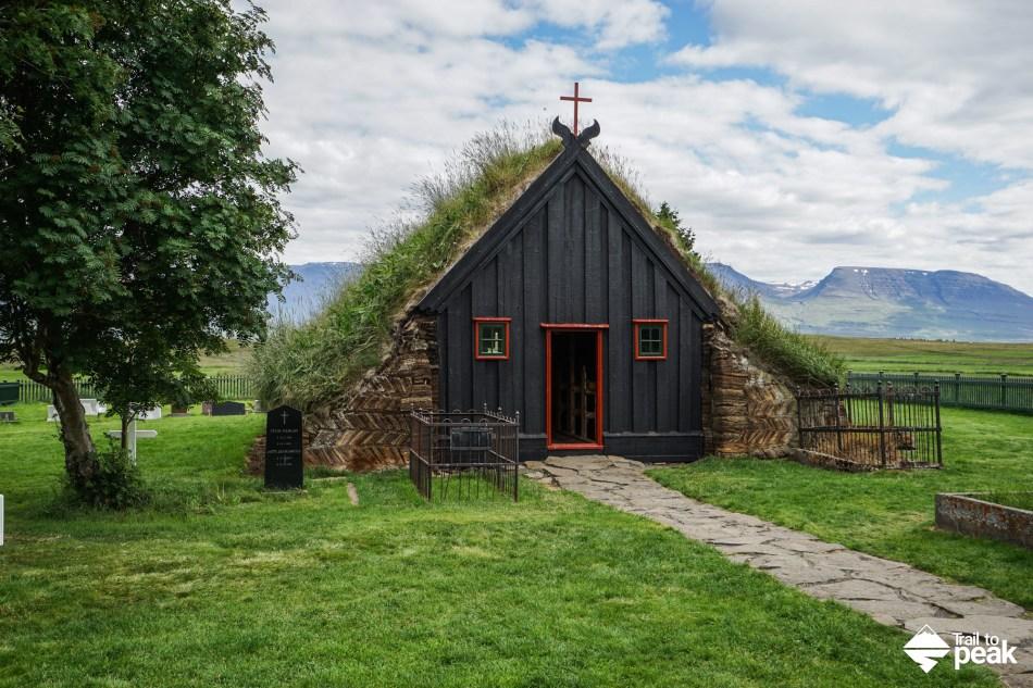 Drive North Iceland Glaumbær Víðimýrarkirkja Hvitserkur Kolugljúfur Eiriksstadir