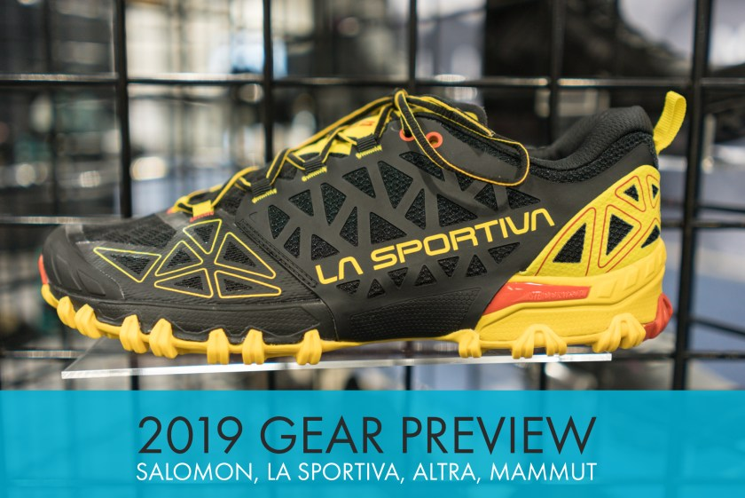 2019 Shoe Previews: Salomon, La Sportiva, Altra, and Mammut