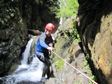 Canyoning involves some rope work.