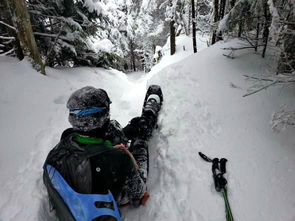 9 sledding