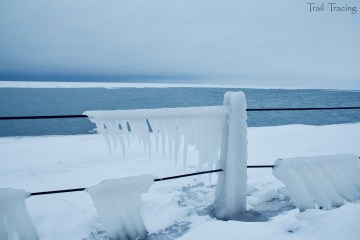 Icy Rail at Montrose Pier