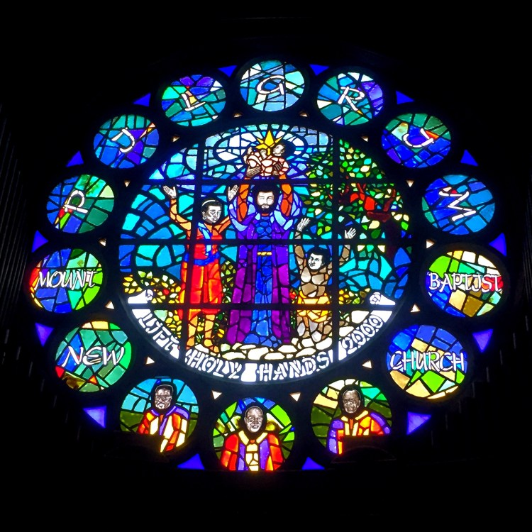 New Mt Pilgrim Founders Rose Window