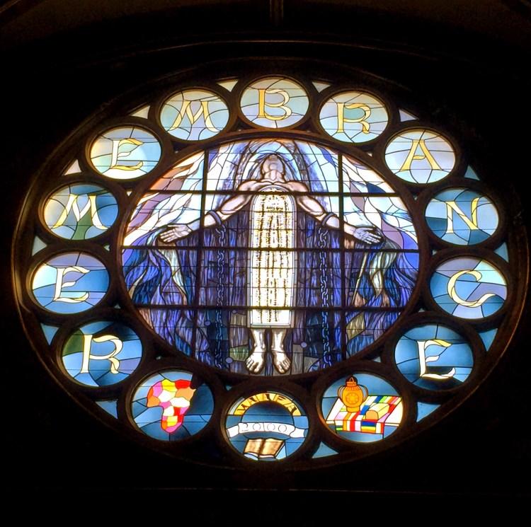 New Mt Pilgrim Remembrance Rose Window