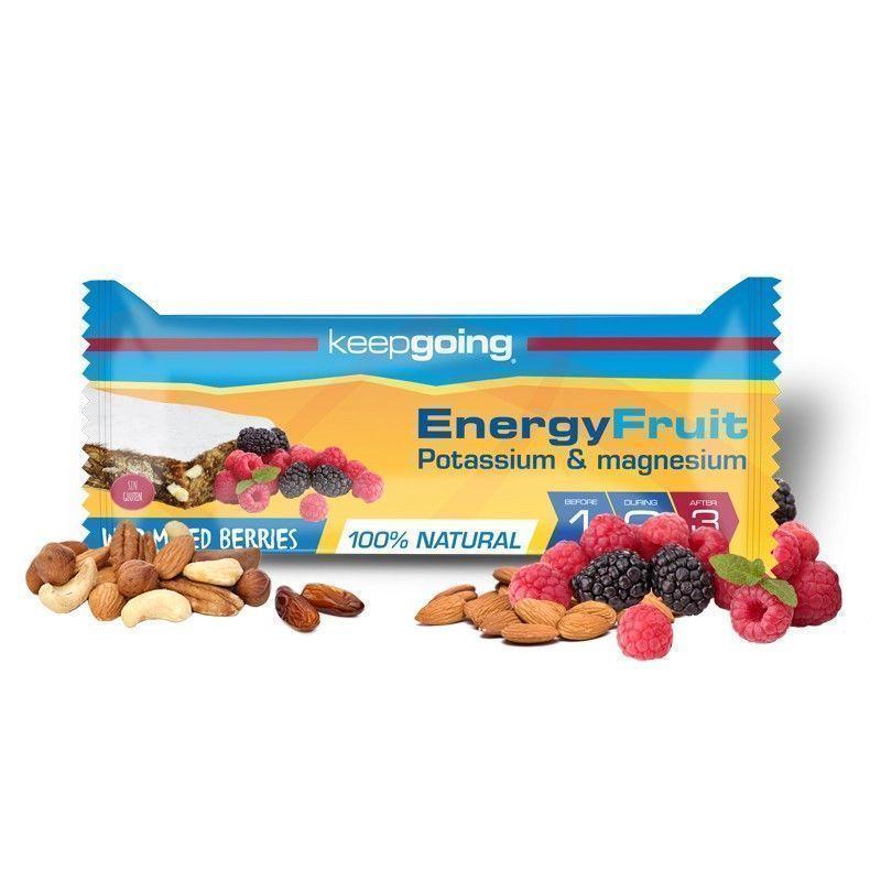 KEEPGOING BARRITA ENERGY FRUIT 40GR FRUTAS DEL BOSQUE