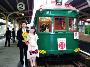 二次会列車出発前に。