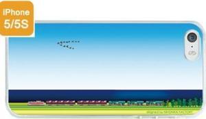 青空のもとを行く貨物列車iPhoneケース