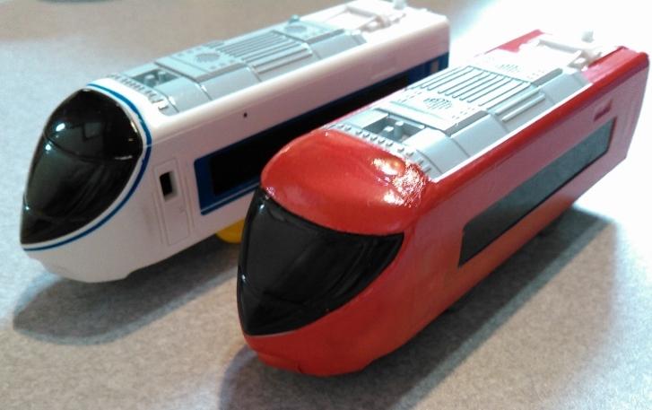 【プラレール】あさぎり号371系を富士山ビュー特急風にラッピング